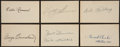 Autographs:Index Cards, Philadelphia A's Legends Signed Index Cards Lot Of 6....