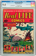 "Golden Age (1938-1955):Non-Fiction, Real Life Comics #25 Davis Crippen (""D"" Copy) pedigree (NedorPublications, 1945) CGC VF/NM 9.0 Off-white to white pages...."
