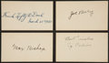 Autographs:Index Cards, Philadelphia A's Signed Index Cards Lot Of 4. ...