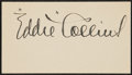 Baseball Collectibles:Others, Eddie Collins Signed Cut Signature....