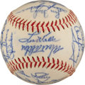 Autographs:Baseballs, 1962 Los Angeles Dodgers Team Signed Baseball....