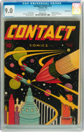 Golden Age (1938-1955):Science Fiction, Contact Comics #12 Double Cover (Aviation Press, 1946) CGC VF/NM9.0 White pages....