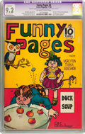 Golden Age (1938-1955):Humor, Funny Pages #6 (Comics Magazine, 1936) CGC Apparent NM- 9.2 Moderate (P) Off-white to white pages....