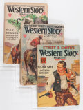 Pulps:Western, Western Story Magazine Group (Street & Smith, 1920s-'40s) Condition: Average GD/VG....