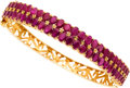 Estate Jewelry:Bracelets, Ruby, Gold Bracelet. ...