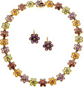 Estate Jewelry:Coin Jewelry and Suites, Peridot, Amethyst, Citrine, Garnet, Gold Suite. ...