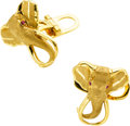 Estate Jewelry:Cufflinks, Ruby, Gold Elephant Cuff Links. ...