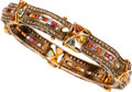 Estate Jewelry:Bracelets, Diamond, Topaz, Tourmaline, Gold, Sterling Silver Bracelet. ...