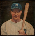 Baseball Collectibles:Others, Lou Gehrig Original Painting....