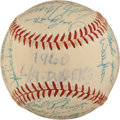 Autographs:Baseballs, 1960 Los Angeles Dodgers Team Signed Baseball....