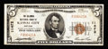 National Bank Notes:Missouri, Kansas City, MO - $5 1929 Ty. 1 The Columbia NB Ch. # 11472. ...