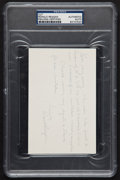 Autographs:Others, Ronald Reagan Hand Signed Note As Governor....