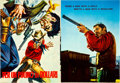 Movie Posters:Western, A Fistful of Dollars/For a Few Dollars More (Unidis, 1964 &PEA, 1967). Italian Program and Theater Mobile.. ... (Total: 2Items)