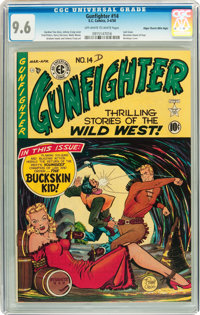 Gunfighter #14 Mile High pedigree (EC, 1950) CGC NM+ 9.6 Off-white to white pages