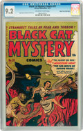 Golden Age (1938-1955):Horror, Black Cat Mystery #31 Mile High pedigree (Harvey, 1951) CGC NM- 9.2Off-white to white pages....
