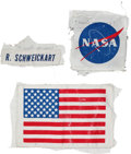 Transportation:Space Exploration, Apollo 9 Flown PLSS Patch Set (Three) Directly from the PersonalCollection of Mission Lunar Module Pilot Rusty Schweickart, E...(Total: 3 Items)