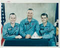 Autographs:Celebrities, Apollo 1 Crew-Signed Color NASA Glossy Photo from the Personal Collection of Mission Pilot Roger Chaffee. ...