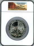Modern Bullion Coins, 2010 25C Grand Canyon 5 Ounce Silver, Early Releases MS69 NGC. PCGSPopulation (808/0). (#505103)...