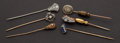 Estate Jewelry:Stick Pins and Hat Pins, Six Antique Stick Gold Pins. ... (Total: 6 Items)