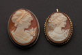 Estate Jewelry:Cameos, Two Early Antique Gold Cameos. ... (Total: 2 Items)