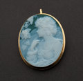 Estate Jewelry:Cameos, Superb Early Gold Cameo. ...