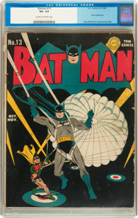 Batman #13 (DC, 1942) CGC VG- 3.5 Cream to off-white pages