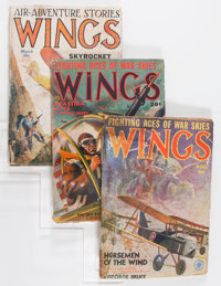 Assorted Aviation Pulps Group (Various, 1930s-'40s) Condition: Average GD/VG