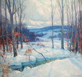 Fine Art - Painting, American:Modern  (1900 1949)  , EMILE ALBERT GRUPPE (American, 1896-1978). Winter Scene .Oil on canvas . 31 x 32 inches (78.7 x 81.3 cm). Signed lower ...