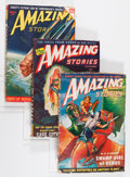 Pulps:Science Fiction, Amazing Stories Box Lot (Ziff-Davis, 1947-51) Condition: Average VG....