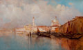 Fine Art - Painting, American:Modern  (1900 1949)  , ANTHONY THIEME (American, 1888-1954). A View of Venice,1922. Oil on board. 12 x 20 inches (30.5 x 50.8 cm). Signed and ...