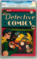 Golden Age (1938-1955):Superhero, Detective Comics #59 (DC, 1942) CGC FN+ 6.5 Off-white to white pages....