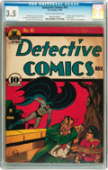 Golden Age (1938-1955):Superhero, Detective Comics #45 (DC, 1940) CGC VG- 3.5 Cream to off-white pages....