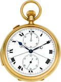 Timepieces:Pocket (post 1900), Swiss Minute Repeater With Split Seconds & Minute Register,circa 1910. ...