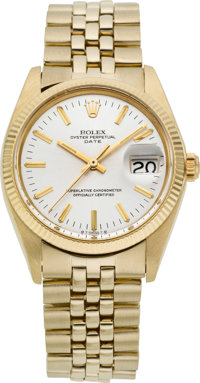 Rolex Ref. 1503 Vintage 14k Gold Oyster Perpetual Date, circa 1977