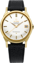 Timepieces:Wristwatch, Omega 18k Gold Constellation, circa 1950's. ...