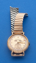 Timepieces:Wristwatch, Jaeger-LeCoultre Triple Calendar 18k Rose Gold Wristwatch NeedingFull Restoration. ...