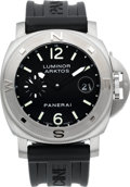 Timepieces:Wristwatch, Panerai Luminor Arktos Special Edition G077/500 OP 6559 Steel Automatic New Condition, circa 2005. ...