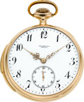 Timepieces:Pocket (post 1900), Touchon & Co. Gold Minute Repeater, circa 1910. ...