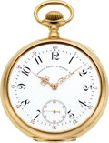 Timepieces:Pocket (post 1900), Patek Philippe 18k Gold Watch For Bailey, Banks & Biddle Co.,circa 1903. ...