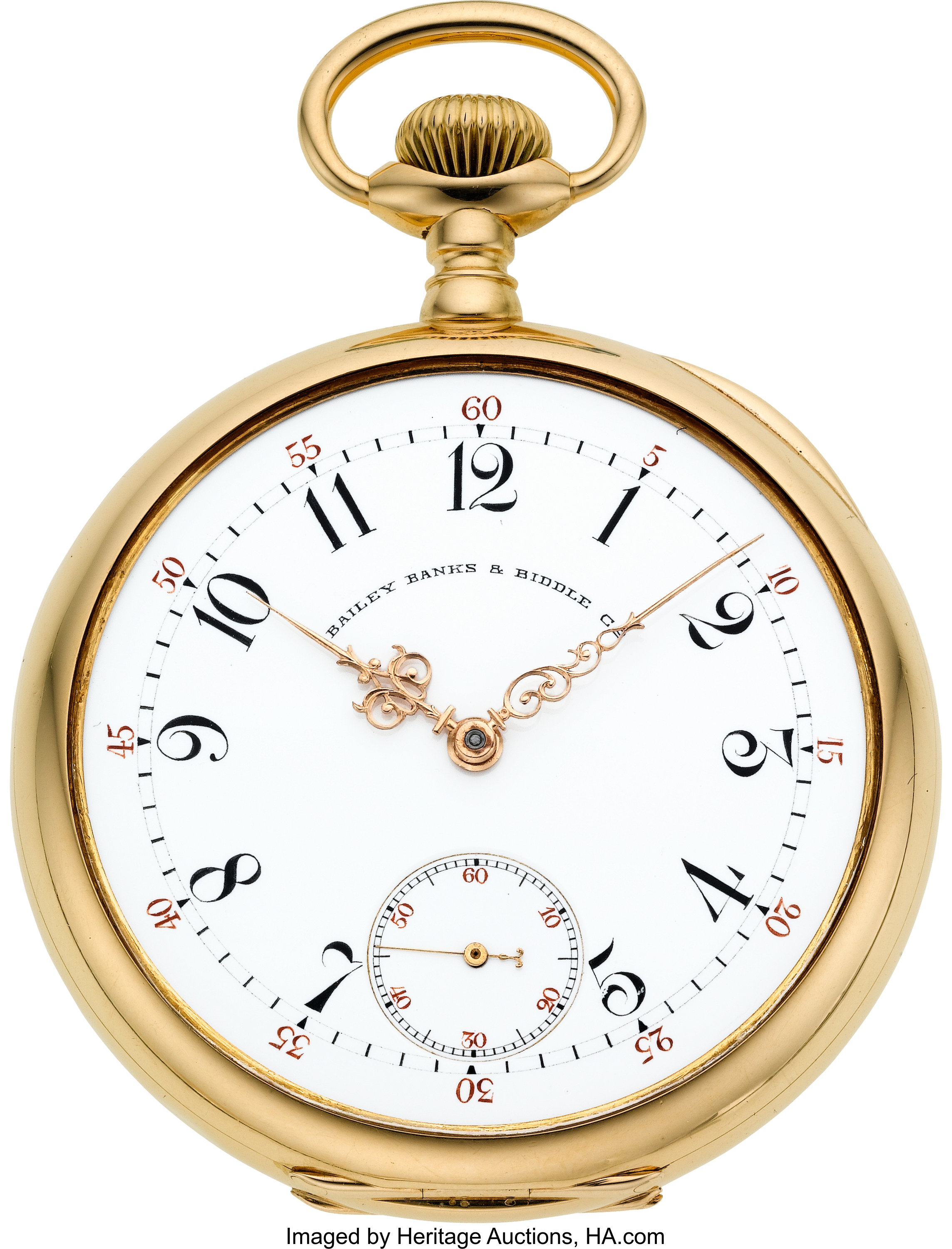 Patek Philippe 18k Gold Watch For Bailey Banks Biddle Co Circa Lot 60201 Heritage Auctions