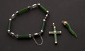 Estate Jewelry:Other , Jade Gold Bracelet & Two Pendants. ... (Total: 3 Items)