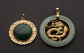 Estate Jewelry:Pendants and Lockets, Estate Gold & Jade Pendants. ... (Total: 2 Items)