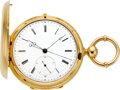 Timepieces:Pocket (pre 1900) , Jules Jurgensen Copenhagen Gold Two Train Center Seconds With 1/5thSecond Jump, No. 12094, circa 1878. ...