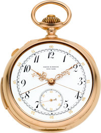 Patek Philippe & Co. Very Fine Rose Gold Minute Repeater With Split Seconds Chronograph For Jaques & Marcus New...