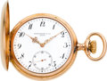 Timepieces:Pocket (post 1900), Patek Philippe Rose Gold Hunters Case, circa 1900. ...