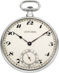 Timepieces:Pocket (post 1900), Ulysse Nardin Fine Platinum Gent's Pocket Watch, circa 1915. ...