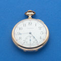 Timepieces:Pocket (post 1900), Waltham 14k Gold 12 Size Pocket Watch. ...