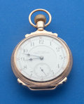 Timepieces:Pocket (post 1900), Waltham 21 Jewel Model 92 Vanguard 18 Size 14k Rose Gold Box Hinged Case. ...