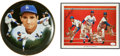 Autographs:Others, Sandy Koufax Signed Plate And Color Print Lot Of 2....