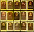Autographs:Post Cards, Baseball Hall Of Fame Postcards Lot Of 15....